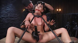 Dom puts sexy bound submissive Kasey Warner through pure hell