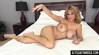 That busty MILF can be so flirty and naughty and she masturbates a lot