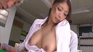 Japanese secretary Hina Akiyoshi drops her clothes to be fucked