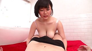 Busty Japanese amateur Nishita Kotone plays with her nice tits