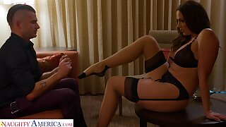 Young man loves being told what to do and he loves to have sex with MILFs