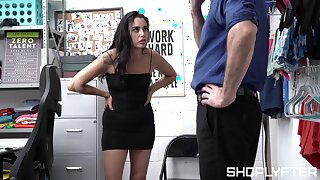 Full hardcore sex leaves sexy shop lifter fully jizzed