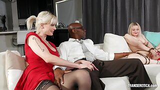 Black male suits these fine ass women with the best BBC porn