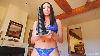 Aroused brunette rides monster sexual toy for unlimited XXX orgasms