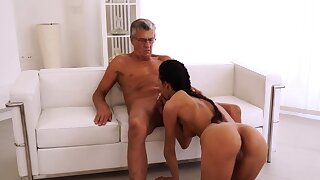 Old woman fucked hard and anal first time Finally she's