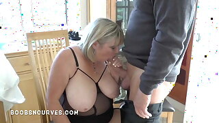 Older busty woman still loves a big cock in her