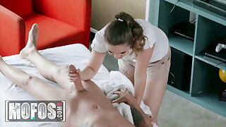 Busty Devon Green Massages A Big Dick With Her Mouth