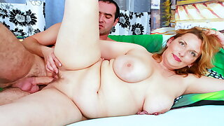 Chubby Mom With Big Saggy Tits Seduces Son's Friend to Fuck