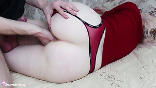 Girlfriend Fucked Hard Doggystyle And Gets Cum On Juicy Ass