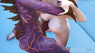 Alien shemale fucks a girl in mystical cave on the exoplanet