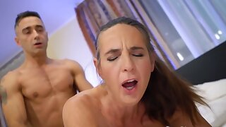 Horny granny is being fucked hard by one big-dicked stud