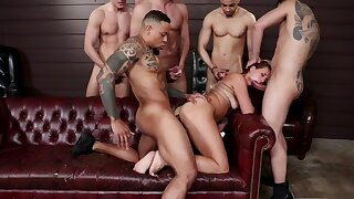 Teacher turns out to be a bitch and studs fuck her to reeducate