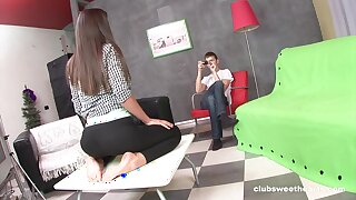 Deep butt hole action suits teenager with intense orgasms