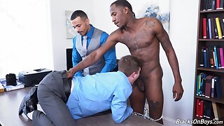 Black dudes ass fuck gay lad from the office
