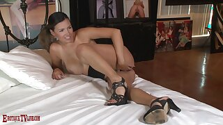 Amateur sucks dick and leaves it wet for a wild shag into her tight cunt