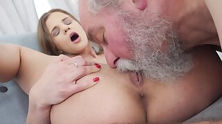 The dirty old man found a perfect young piece of meat for himself