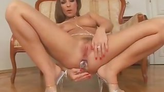 Morgan Moon Plays With Her Anus Before Anal Gangbang