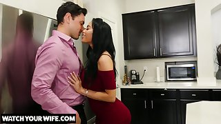 Brother's whore wife Victoria June turned to be very hot and insatiable bitch