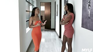 Dreams come true for a guy after threesome with Evi Rei and Ana Foxxx